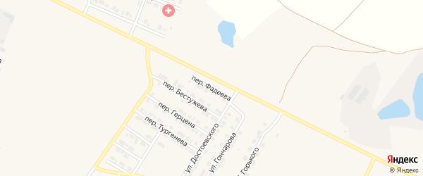Переулок Фадеева на карте Карталы с номерами домов