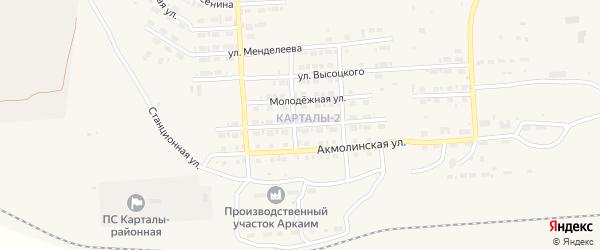 Улица Лермонтова на карте Карталы с номерами домов