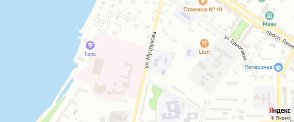 Улица Музрукова на карте Озерска с номерами домов