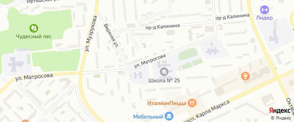 Улица Матросова на карте Озерска с номерами домов