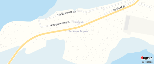 СНТ Зеленая горка на карте Озерска с номерами домов