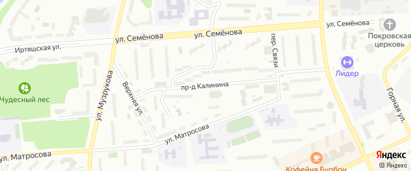 Проезд Калинина на карте Озерска с номерами домов
