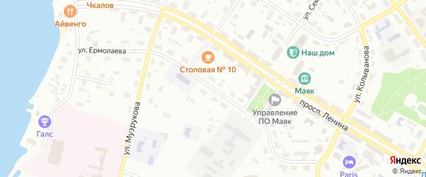 Улица Ермолаева на карте Озерска с номерами домов