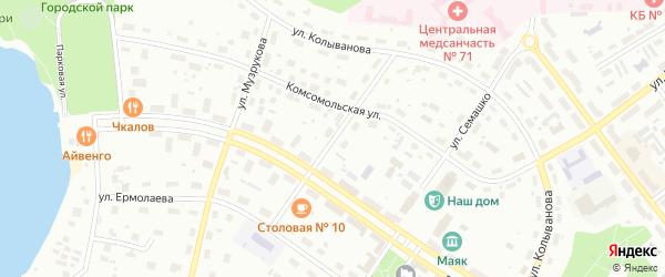 Улица Мишенкова на карте Озерска с номерами домов