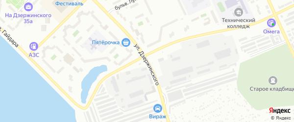 Улица Дзержинского на карте Озерска с номерами домов