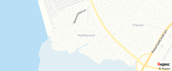 СНТ Черемушки на карте Озерска с номерами домов