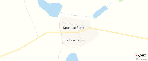 Карта поселка Красной Зари в Челябинской области с улицами и номерами домов