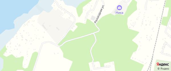 Разъездная улица на карте Озерска с номерами домов