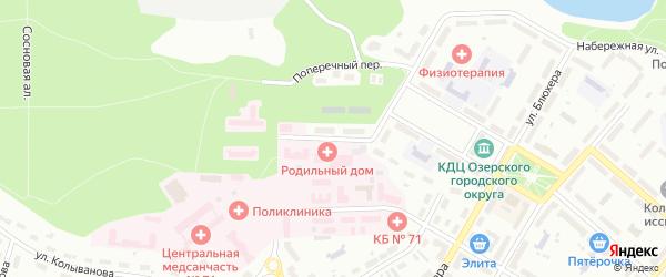 Восточная улица на карте Новогорного поселка с номерами домов