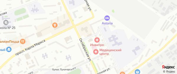 Зеленая улица на карте Озерска с номерами домов