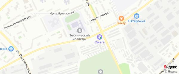 Улица Монтажников на карте Озерска с номерами домов
