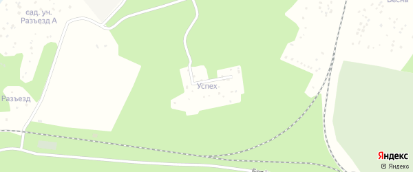 Территория ПГСК Успех на карте Озерска с номерами домов