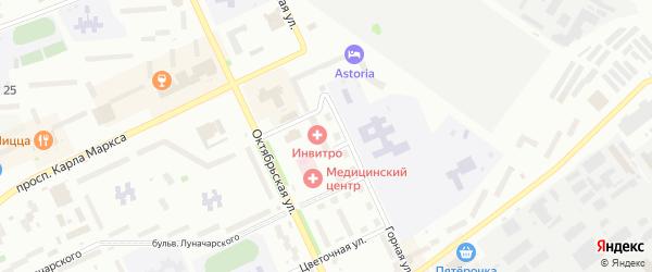 Красная улица на карте Озерска с номерами домов