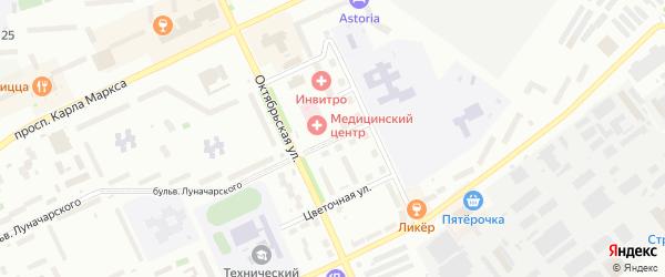 Песочная улица на карте Озерска с номерами домов