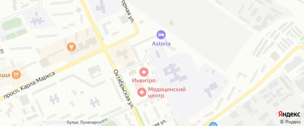 Горная улица на карте Озерска с номерами домов