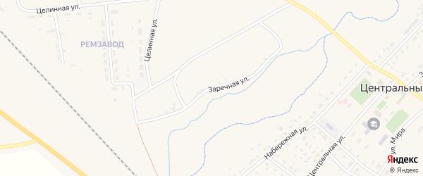 Заречная улица на карте Центрального поселка с номерами домов