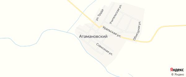 Карта Атамановского поселка в Челябинской области с улицами и номерами домов