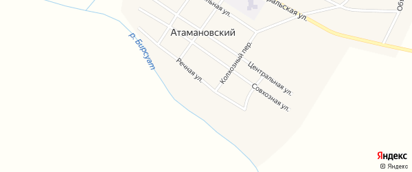 Речная улица на карте Атамановского поселка с номерами домов