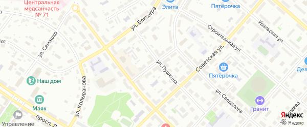 Советский переулок на карте Озерска с номерами домов