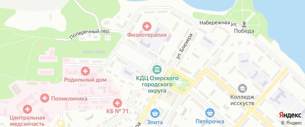 Комсомольский проезд на карте Озерска с номерами домов