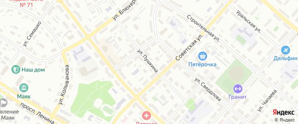 Улица Пушкина на карте Озерска с номерами домов