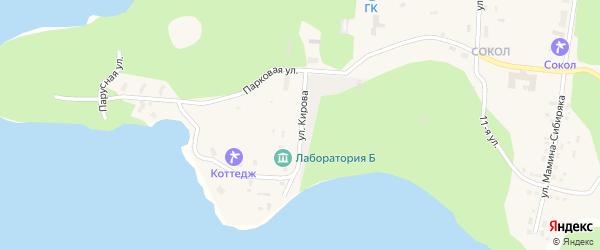 Улица Кирова на карте Снежинска с номерами домов