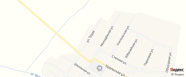 Улица Труда на карте Атамановского поселка с номерами домов