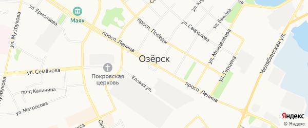 Карта деревни Селезни города Озерска в Челябинской области с улицами и номерами домов