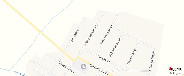 Молодежная улица на карте Атамановского поселка с номерами домов