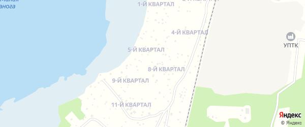 СНТ Малая Нанога на карте Озерска с номерами домов