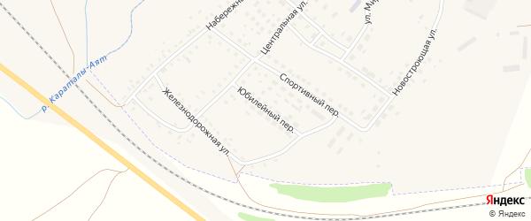 Юбилейный переулок на карте Центрального поселка с номерами домов