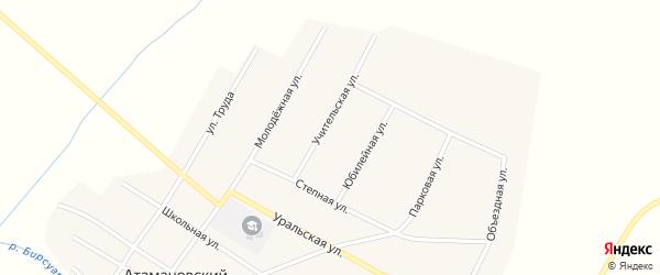 Учительская улица на карте Атамановского поселка с номерами домов