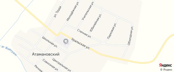 Степная улица на карте Атамановского поселка с номерами домов