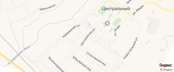 Центральная улица на карте Центрального поселка с номерами домов