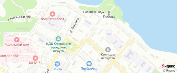Ленинградская улица на карте Озерска с номерами домов
