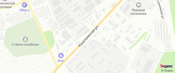Кыштымская улица на карте Новогорного поселка с номерами домов