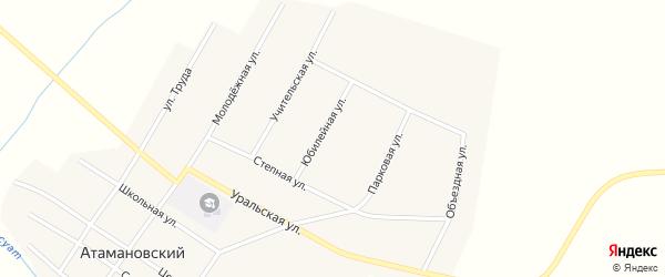 Юбилейная улица на карте Атамановского поселка с номерами домов