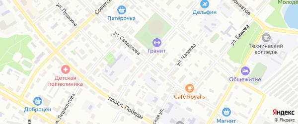 Улица Свердлова на карте Озерска с номерами домов