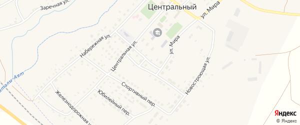 Центральный переулок на карте Центрального поселка с номерами домов