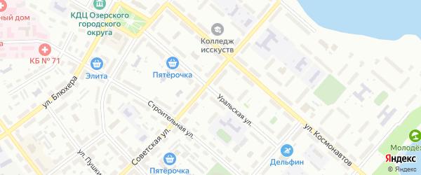 Уральская улица на карте Озерска с номерами домов