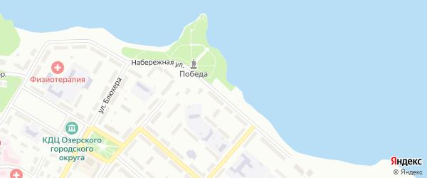 Набережная улица на карте Озерска с номерами домов