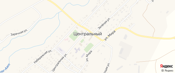 Спортивный переулок на карте Центрального поселка с номерами домов