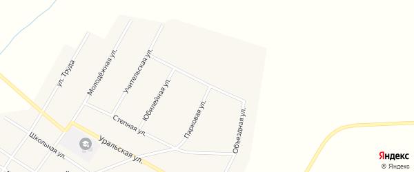Объездная улица на карте Атамановского поселка с номерами домов