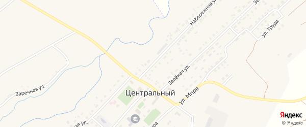 Набережная улица на карте Центрального поселка с номерами домов
