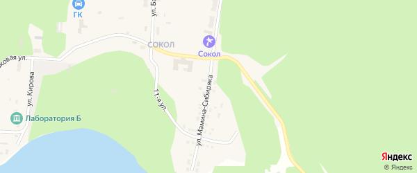 Улица Мамина-Сибиряка на карте Снежинска с номерами домов