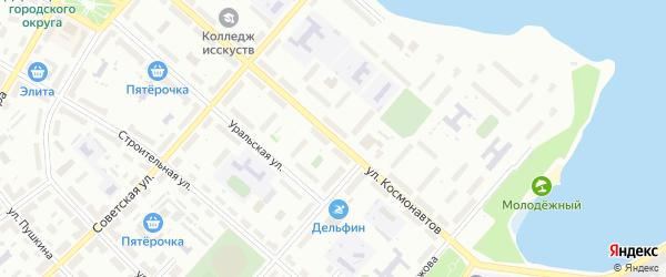 Улица Космонавтов на карте Озерска с номерами домов