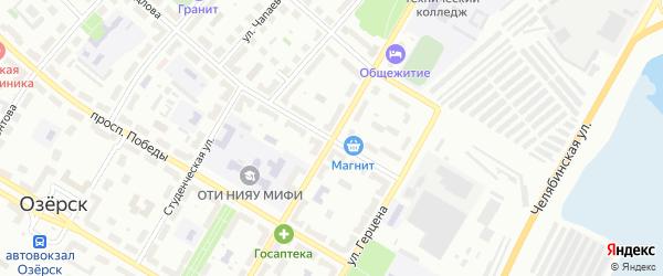 Улица Менделеева на карте Челябинска с номерами домов