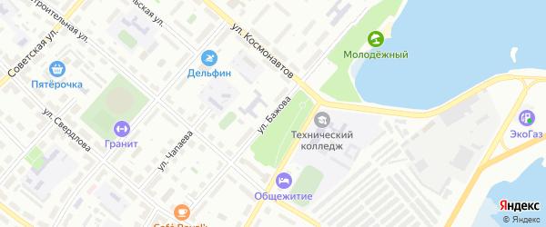 Улица Бажова на карте Озерска с номерами домов