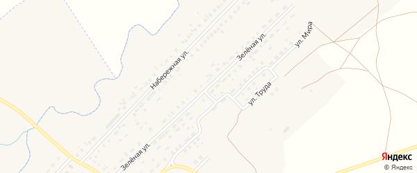 Зеленая улица на карте Центрального поселка с номерами домов