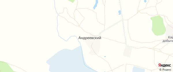 Карта Андреевского поселка в Челябинской области с улицами и номерами домов